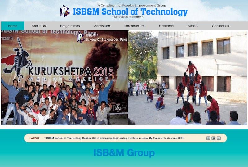 isbm-sot-pune-website