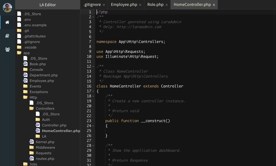 laraadmin-online-code-editor