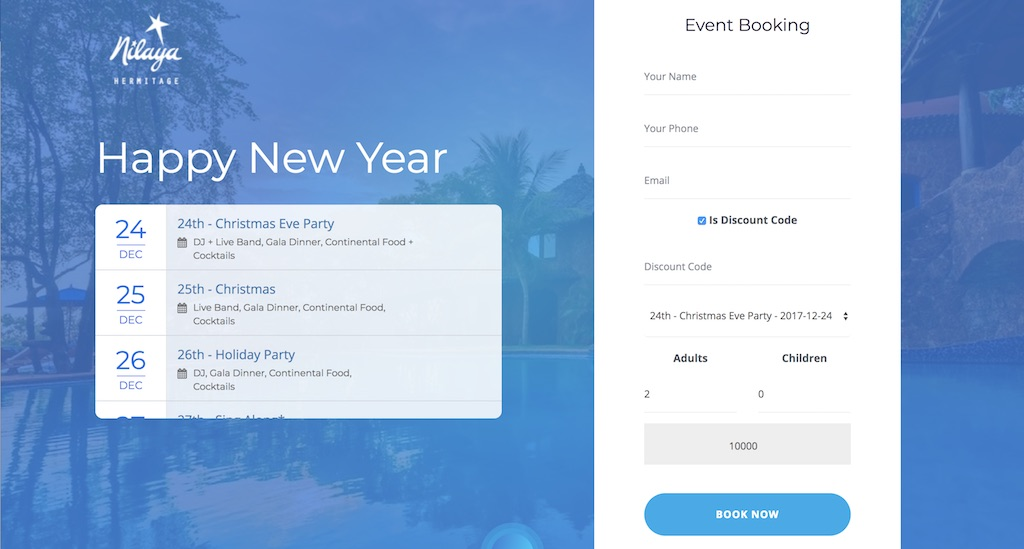 NIlaya-Event-Booking-System-Laravel-Goa