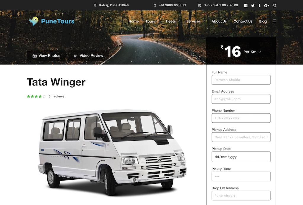 PuneTours-Custom-WordPress-Development