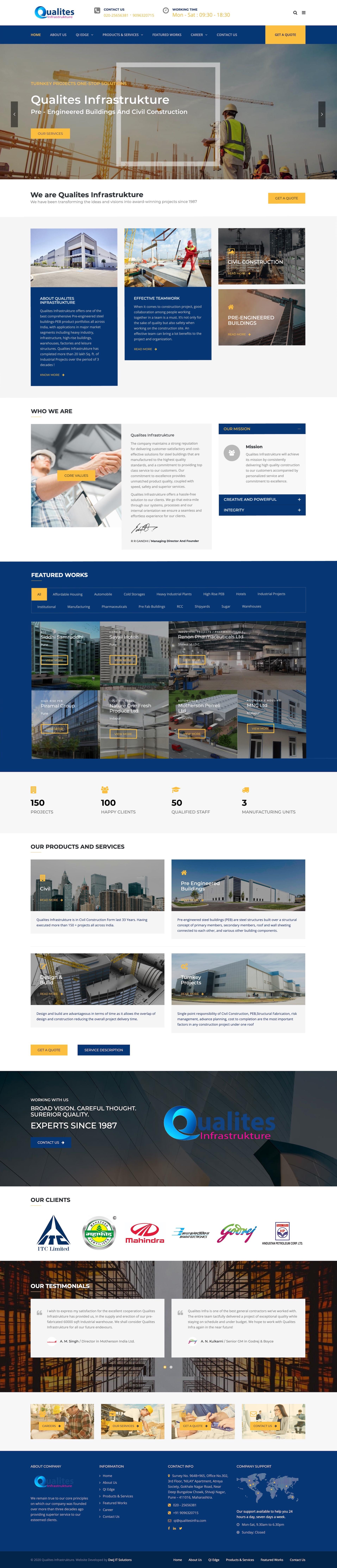 qualites-infrastrukture-wordpress-website-development-pune